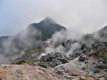 Attività giapponese del vulcano Fotografie Stock Libere da Diritti