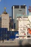Attività marittima al porto di Genova, Italia Fotografia Stock Libera da Diritti