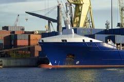 Attività marittima al porto di Genova, Italia Fotografie Stock