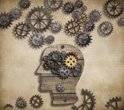 Attività mentale del cervello, psicologia, invenzione e Fotografie Stock Libere da Diritti