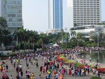 Attività sulla rotonda dell'Indonesia dell'hotel fotografie stock libere da diritti