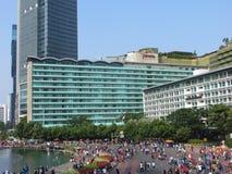 Attività sulla rotonda dell'Indonesia dell'hotel fotografia stock