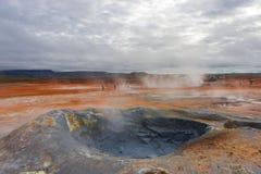 Attività vulcanica come sorgenti di acqua calda sull'Islanda, ora legale Fotografie Stock Libere da Diritti
