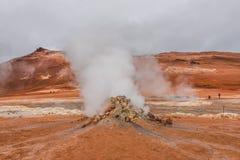 Attività vulcanica come sorgenti di acqua calda sull'Islanda, ora legale Fotografie Stock