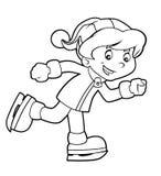Attività bambina del fumetto - illustrazione per i bambini Fotografia Stock