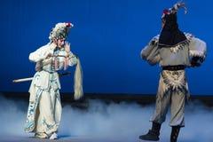 """Atto del kotow-The del taoista il quinto ruba il  bianco di Opera""""Madame Snake†dell'immortale-Kunqu Fotografia Stock"""