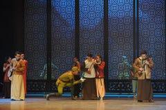 Atto di curiosità- del Da lo Zuo giapponese dell'esercito il terzo degli eventi di dramma-Shawan di ballo del passato Fotografie Stock Libere da Diritti