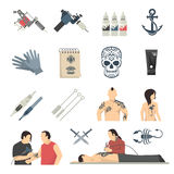 Attoo Studio Flat Icons Collection Royalty Free Stock Photography