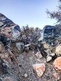 AtTop géologique d'obsidien de cratère de Panum photographie stock