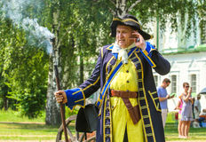Attore del teatro, truppe in uniforme Svezia Fotografie Stock