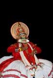 Attore di ballo di tradional di Kathakali Immagine Stock