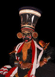 Attore di ballo di tradional di Kathakali Fotografie Stock