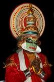 Attore di ballo di tradional di Kathakali Fotografie Stock Libere da Diritti