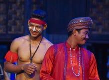 Attore khmer durante la prestazione teatrale Fidanzato ed il padre della sposa Fotografia Stock