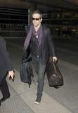 Attore Ryan Reynolds all'aeroporto di LASSISMO. M. fotografie stock libere da diritti