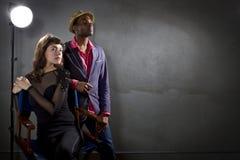 Attori alla moda Fotografia Stock Libera da Diritti