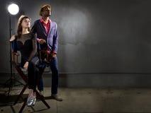 Attori alla moda Fotografia Stock