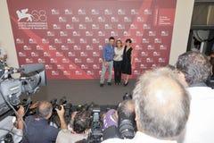 Attori Filippo Timi, Cristina Comencini e Claudia Pandolfi Fotografia Stock Libera da Diritti