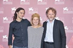 Attori Jonas Carpignano, Fiorella, Infascelli e Francesco Bruni Fotografie Stock Libere da Diritti