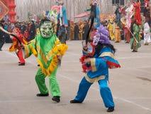 Attori mascherati Fotografie Stock Libere da Diritti