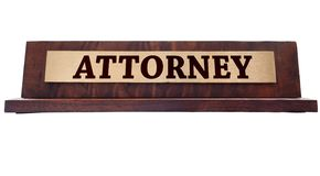 Attornet name plate Stock Photos