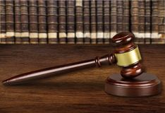 Attorney. Courtroom closeup trial law table judgment royalty free stock photo