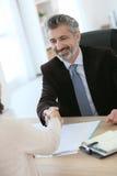 Attorney handshaking client Stock Photos
