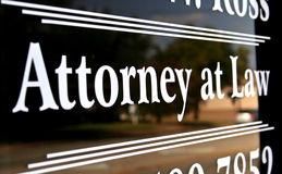 Attorney at Law. Sign on Window Royalty Free Stock Images