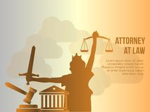 Attorney at law conceptual vector design illustration template royalty free illustration