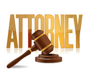 Attorney at law sign illustration design Royalty Free Stock Photos