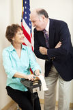 Attorney and Stenographer Stock Photo