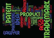 Attorney Trademark Patent Word Cloud Concept Stock Photography
