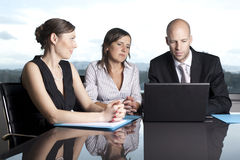 Attorneys at Law Firm. Three attorneys at Law Firm stock images