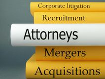 Attorneys - Law Practice Books Royalty Free Stock Photo