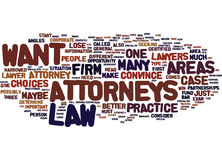 Attorneys Word Cloud Concept Stock Photography