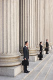 Attorneys Waiting On Courthouse Steps Royalty Free Stock Photos