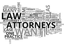 Attorneys Word Cloud Royalty Free Stock Images