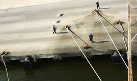 Attracchi esterni nel porto di La Goletta Fotografia Stock Libera da Diritti