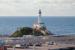 Attracco del porto marittimo e del segnale Ibiza, Spagna Immagine Stock Libera da Diritti