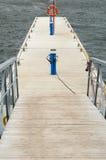 Attracco di legno per gli yacht Fotografia Stock Libera da Diritti