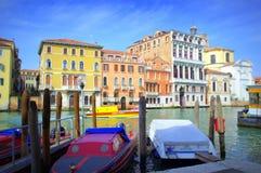 Attracco di Venezia, Italia Fotografia Stock Libera da Diritti