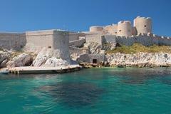Attracco e fortezza Castello se, Marsiglia, Francia Immagini Stock Libere da Diritti
