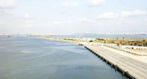Attracco panoramico del bacino nel porto di La Goletta Fotografia Stock Libera da Diritti