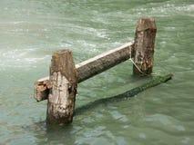 Attracco veneziano della barca Fotografie Stock