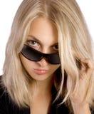 attracive妇女年轻人 免版税库存照片