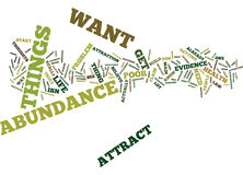 Attract Abundance Word Cloud Concept Royalty Free Stock Photography