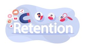 Attract the audience as marketing strategy. Traffic increase. Customer retention concept. Attract the audience as marketing strategy. Traffic increase. Isolated vector illustration