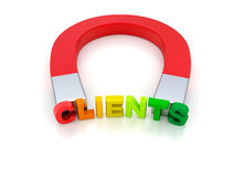 Attract Clients Stock Image