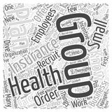 Attract Employees Group Health Insurance word cloud concept  background Royalty Free Stock Images