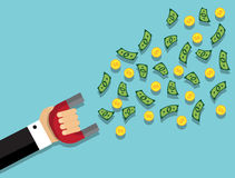 Attract money and wealth Stock Photo